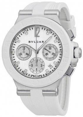 Bulgari,Bulgari - Diagono Chronograph 40mm - Stainless Steel - Watch Brands Direct