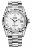 Rolex - Day-Date President White Gold - Fluted Bezel - Diamond Lugs - Watch Brands Direct  - 5