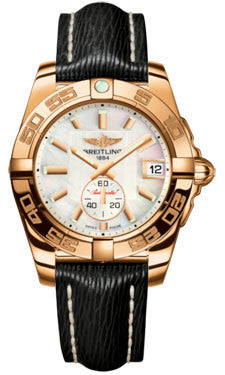 Breitling,Breitling - Galactic 36 Automantic Rose Gold - Sahara Strap - Watch Brands Direct