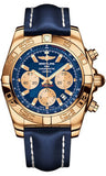 Breitling,Breitling - Chronomat 44 Rose Gold Polished Bezel - Leather Strap - Watch Brands Direct