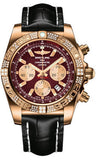Breitling,Breitling - Chronomat 44 Rose Gold Diamond Bezel - Croco Strap - Watch Brands Direct