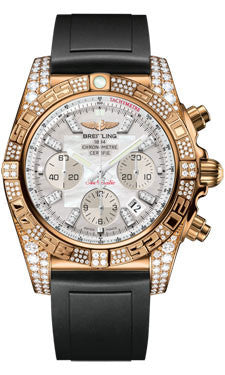 Breitling,Breitling - Chronomat 44 Rose Gold Diamond Case - Watch Brands Direct