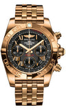Breitling,Breitling - Chronomat 41 Rose Gold Polished Bezel - Pilot Bracelet - Watch Brands Direct