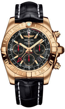 Breitling,Breitling - Chronomat 44 GMT Rose Gold on Croco - Watch Brands Direct