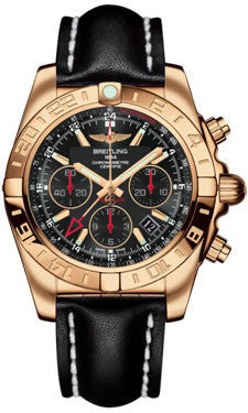 Breitling,Breitling - Chronomat 44 GMT Rose Gold on Leather - Watch Brands Direct