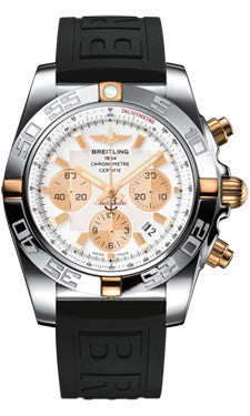 Breitling,Breitling - Chronomat 44 Two-Tone Polished Bezel - Diver Pro III Strap - Watch Brands Direct