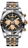 Breitling,Breitling - Chronomat 44 Two-Tone Polished Bezel - Pilot Bracelet - Two-Tone - Watch Brands Direct