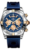 Breitling,Breitling - Chronomat 44 Two-Tone Polished Bezel - Ocean Racer Strap - Watch Brands Direct