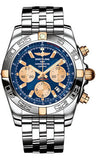 Breitling,Breitling - Chronomat 44 Two-Tone Polished Bezel - Pilot Bracelet - Watch Brands Direct