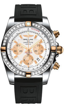 Breitling,Breitling - Chronomat 44 Two-Tone 40 Diamond Bezel - Diver Pro III Strap - Watch Brands Direct