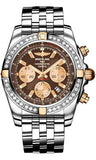 Breitling,Breitling - Chronomat 44 Two-Tone 40 Diamond Bezel - Pilot Steel Bracelet - Watch Brands Direct