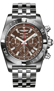 Breitling,Breitling - Chronomat 44 White Gold Satin Finish - Watch Brands Direct