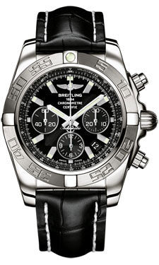 Breitling,Breitling - Chronomat 44 White Gold Polishted Bezel - Croco Strap - Watch Brands Direct