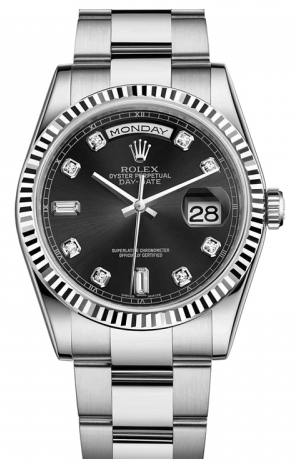 Rolex - Day-Date President White Gold - Fluted Bezel - Watch Brands Direct  - 1