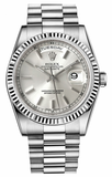 Rolex - Day-Date President White Gold - Fluted Bezel - Watch Brands Direct  - 14