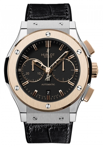 Hublot,Hublot - Classic Fusion 45mm Chronograph - Titanium And King Gold - Watch Brands Direct