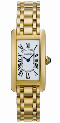 Cartier,Cartier - Tank Americaine Small - Yellow Gold - Watch Brands Direct