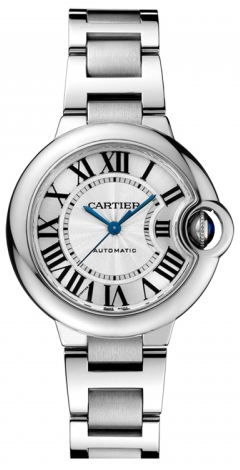 Cartier,Cartier - Ballon Bleu 33mm - Stainless Steel - Watch Brands Direct