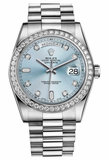 Rolex - Day-Date President Platinum - Diamond Bezel - President - Watch Brands Direct  - 3