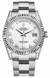 Rolex - Day-Date President White Gold - Fluted Bezel - Diamond Lugs - Watch Brands Direct  - 4