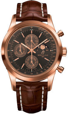 Breitling,Breitling - Transocean Chronograph 1461 Red Gold - Croco Strap - Watch Brands Direct