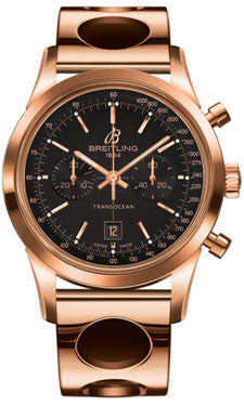 Breitling,Breitling - Transocean Chronograph 38 Red Gold - Air Racer Bracelet - Watch Brands Direct