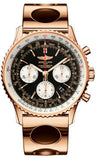 Breitling,Breitling - Navitimer 01 43mm - Red Gold - Air Racer Bracelet - Watch Brands Direct
