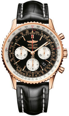 Breitling,Breitling - Navitimer 01 43mm - Red Gold - Croco Strap - Watch Brands Direct