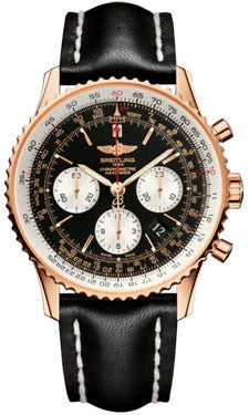 Breitling,Breitling - Navitimer 01 43mm - Red Gold - Leather Strap - Watch Brands Direct