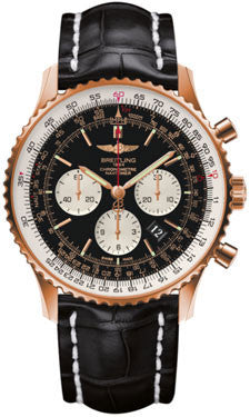 Breitling,Breitling - Navitimer 01 46mm - Red Gold - Croco Strap - Watch Brands Direct