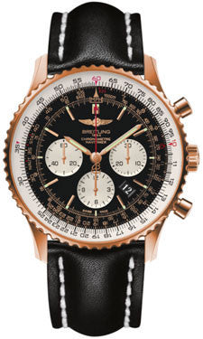 Breitling,Breitling - Navitimer 01 46mm - Red Gold - Leather Strap - Watch Brands Direct