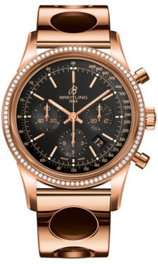 Breitling,Breitling - Transocean Chronograph Red Gold - Diamond Bezel - Air Racer Bracelet - Watch Brands Direct
