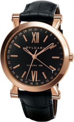 Bulgari,Bulgari - Sotirio Bulgari Central Date 43mm - Rose Gold - Watch Brands Direct