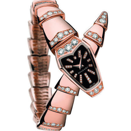 Bulgari,Bulgari - Serpenti - 26mm - Pink Gold and Diamonds - Watch Brands Direct