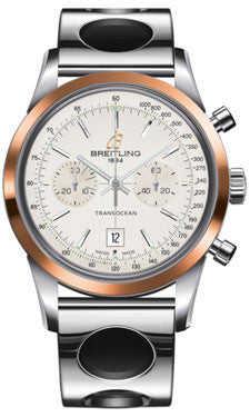 Breitling,Breitling - Transocean Chronograph 38 Steel And Gold - Air Racer Bracelet - Watch Brands Direct