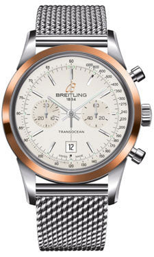 Breitling,Breitling - Transocean Chronograph 38 Steel And Gold - Ocean Classic Bracelet - Watch Brands Direct