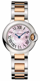 Cartier,Cartier - Ballon Bleu 28mm - Steel and Pink Gold - Watch Brands Direct
