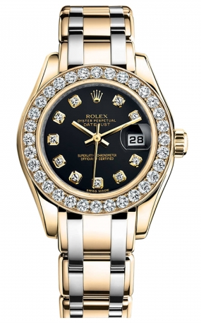 Rolex - Datejust Pearlmaster Lady Tridor - 32 Diamond Bezel - Watch Brands Direct  - 1