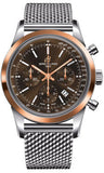Breitling,Breitling - Transocean Chronograph Steel and Gold - Bracelet - Watch Brands Direct