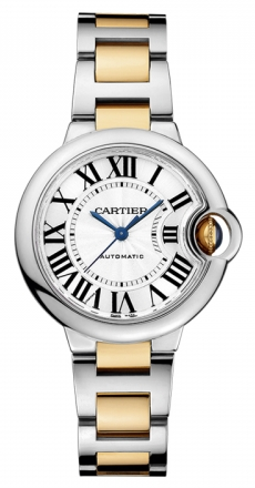 Cartier,Cartier - Ballon Bleu 33mm - Steel and Yellow Gold - Watch Brands Direct
