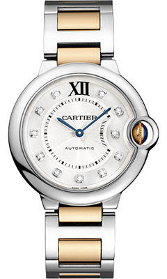 Cartier,Cartier - Ballon Bleu 36mm - Steel and Pink Gold - Watch Brands Direct