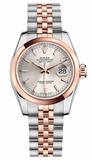 Rolex,Rolex - Datejust Lady 26 - Steel and Pink Gold - Domed Bezel - Watch Brands Direct