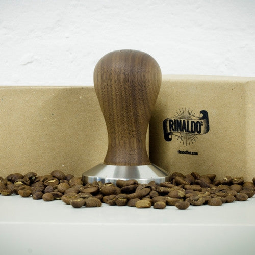 Walnut & Stainless Steel Tamper:  58mm Base - Made in Cumbria