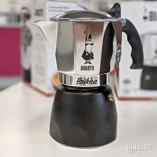 "Bialetti ""Brikka"" 4-Cup - Stove Top (NEW VERSION) + FREE COFFEE"