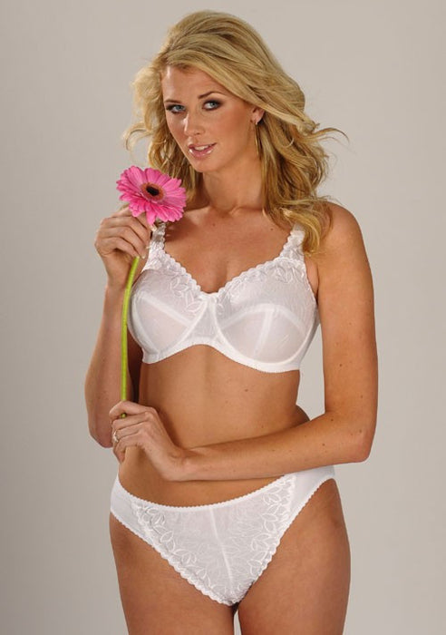 Silhouette Fresco Cotton Full Cup Wired Bra White