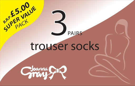 3 Pack 50 Denier Trousers Sock by Joanna Grey
