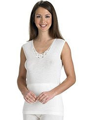 Slenderella Wool And Silk Mix Built Up Shoulder Camisole