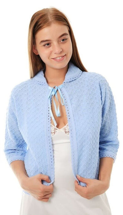 Lady Olga Knitted Bed Jacket (Available Up To Size 28)