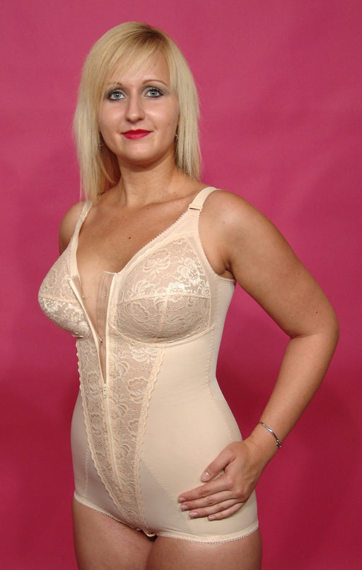 Berdita Firm Control Zip Front Corselette Body Shaper (Skin) 96405
