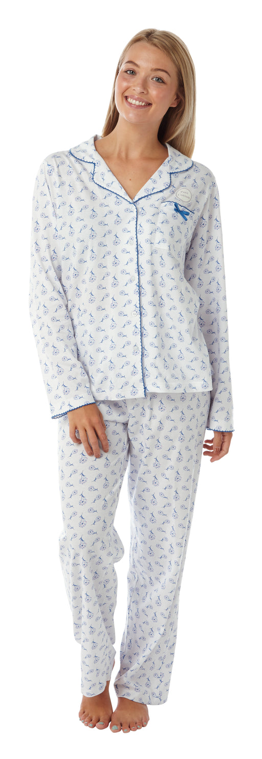 100% Cotton Jersey Traditional Style Pyjamas